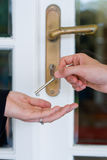 Give House Key Royalty Free Stock Photography