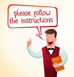 Give an instruction Stock Photo
