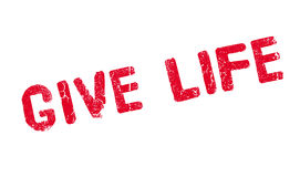 Give Life rubber stamp Royalty Free Stock Photo