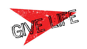 Give Life rubber stamp Stock Photo