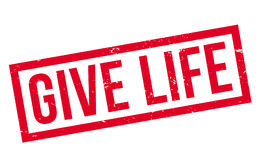 Give Life rubber stamp Stock Photography