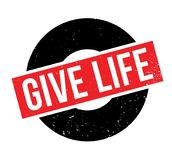 Give Life rubber stamp Royalty Free Stock Image