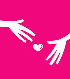 Give love. Conceptual vector illustration of People sharing love Stock Images