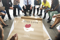 Give Love Charity Care Help Concept Royalty Free Stock Images