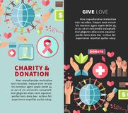 Give love charity and donation promotional vertical posters Stock Photography