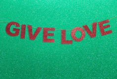 Give love Christmas Decoration Stock Image