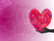 Give love happy valentine day. EPS 10 Vector Stock Illustration