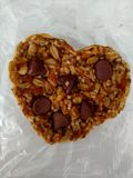 Give Love Vegan Cookie. Vegan cookie to help spread the love. Hemp seed. Organic Oats, Hemp granola, vegan dark chocolate. Crafted and Blessed in Grand Rapids Royalty Free Stock Photography