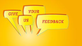 Give me feedback speech bubbles Stock Images