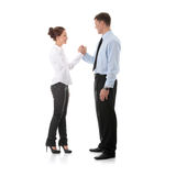 Give me five. Successful young business executives gives five with each other stock images