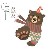 Give me five. Bear says and gesturing Give me five Royalty Free Stock Photography