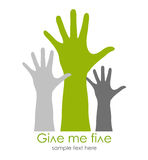 Give me five symbol stock illustration