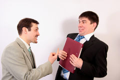 Give me the folder! stock image