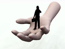 Give Me A Hand 2. Conceptual image representing help and support Stock Photo