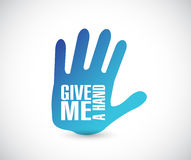 Give me a hand illustration design Stock Photo