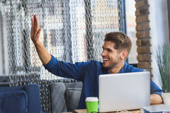 Give me high five man Royalty Free Stock Image