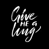 Give me a hug. Brush calligraphy, handwritten text isolated on white background  Royalty Free Stock Images