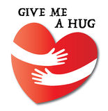 Give me a hug heart love Royalty Free Stock Photo
