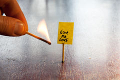 Give me love Stock Photo