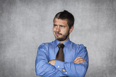Give me a minute to think. Young man Royalty Free Stock Image