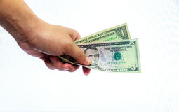 The give money. Stock Photo