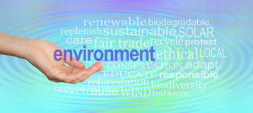Give our Environment a Helping Hand Royalty Free Stock Image