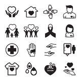 Give and Protect icons Set. Vector illustration Graphic Design vector illustration