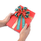 Give or receive red gift box. Stock Photography