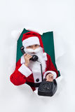 Give santa a call this christmas Royalty Free Stock Photography