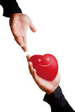 Give the smile heart Stock Photo