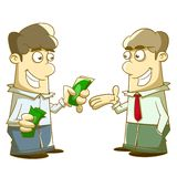 Give and take Allowance. Illustration of a man give and take Allowance Royalty Free Stock Images