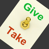 Give Take Lever Means Offering And Receiving Stock Images