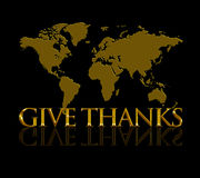 Give Thanks Royalty Free Stock Photos