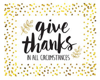 Give Thanks in all Circumstances Printable Stock Photo