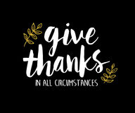 Give Thanks in All Circumstances Printable Stock Image