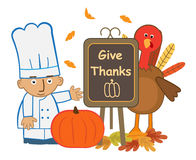 Give Thanks Chef Royalty Free Stock Images