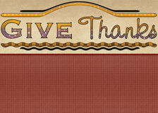 Give Thanks Greeting Card Royalty Free Stock Photo