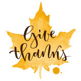 Give thanks greeting Stock Images