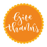 Give thanks greeting Royalty Free Stock Images