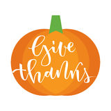 Give thanks greeting Stock Image