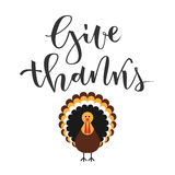 Give thanks greeting Stock Photos