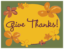 Give Thanks Poster Royalty Free Stock Image
