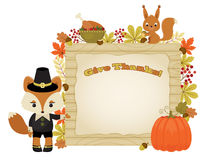 Give thanks Thanksgiving illustration Royalty Free Stock Images