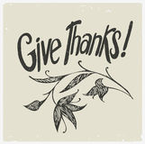 Give thanks. Vector image. Stock Photo