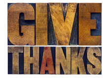 Give thanks word abstract - Thanksgiving concept Stock Photos