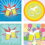 Give a toast of beer graphic Royalty Free Stock Photos
