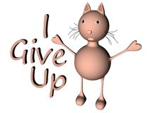 Give Up Cat_Raster Royalty Free Stock Photo