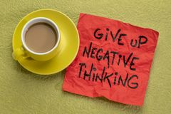 Give up negative thoughts stock image