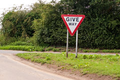 Give Way Stock Photography