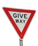 Give way Stock Image